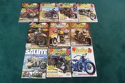 9 Indian Motorcycle Illustrated Magazines & Salute Motocycle Chief Scout Four