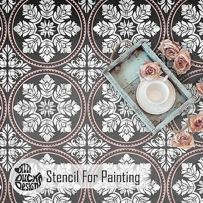 Edessa Tile Stencil for Painting