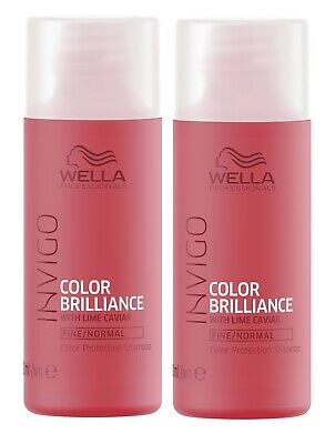 2x Wella Professionals Invigo Color Brilliance Shampoo fein/normal 50 ml