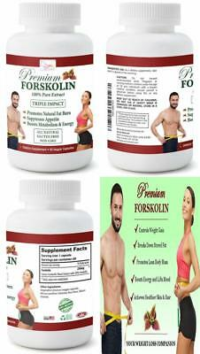 Max Strength 20% Forskolin 60 capsules Weight Loss Fat Burn Metabolism Boost New