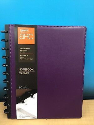 Staples ARC Customizable Notebook System Purple, Measures 8.5 x 11in (23242)