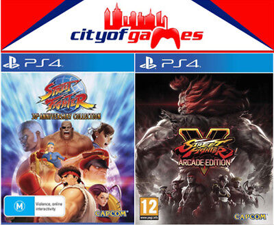 Street Fighter 30th Anniversary & Street Fighter V 5 Arcade Edition PS4 Bundle