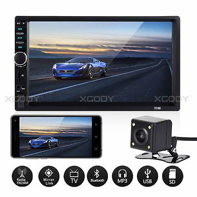 """7"""" 2 DIN Car Stereo Radio MP5 Player Bluetooth Touch Screen 4x60W Rear Camera"""