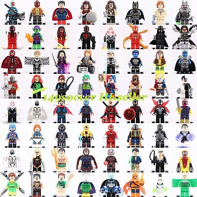2019 Stan Lee Marvel Batman Spiderman Wolverine Mini Figures fit Lego