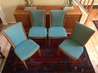 Mid Century Heywood Wakefield Dining Room Chairs Maple C 157 A Vintage Set 4