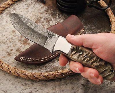 TEXAS TURTLE BACK Knives (TBK) Custom Made Damascus Steel