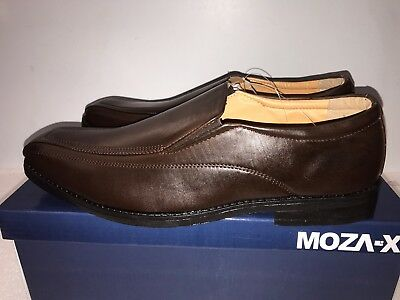 New Mens Boys Smart Casual Slip on Shoes - Brown Adult UK Sizes 6.5 to 12