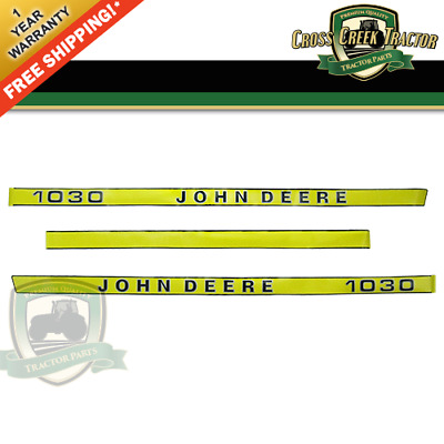 1030DECAL NEW Hood Decal Kit for John Deere 1030