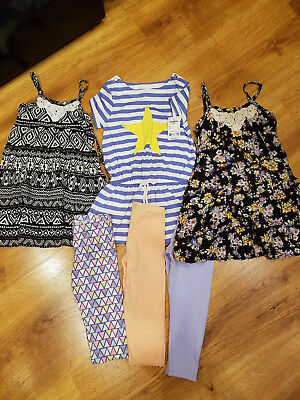 Girls Dresses Lot Size 5 Spring Summer Clothes Lot OshKosh, Justice, etc