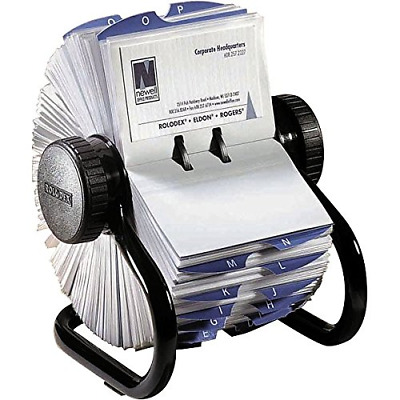 Rolodex Open Rotary Business Card File with 200 2-5/8 by 4 inch Card Sleeve and