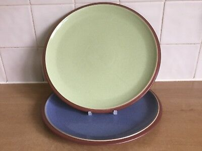Denby Juice Plates & Denby Juice Yellow And Terracotta Salad Plates X 2
