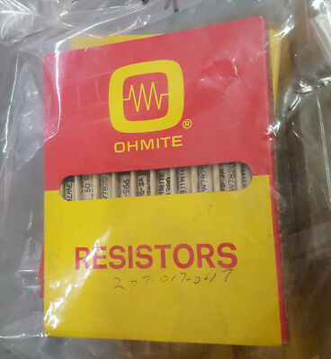 (Lot of 10) Ohmite 995-3A  50 ohm 3.25watt Ceramic Wire Wound Axial Resistor