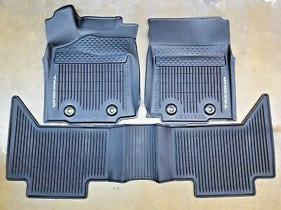 Toyota Tacoma 2018 AT Double Cab All Weather Rubber Floor Liner Mat OEM NEW
