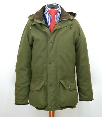 Mens Barbour Berwick Endurance Jacket Shooting Hooded Size S