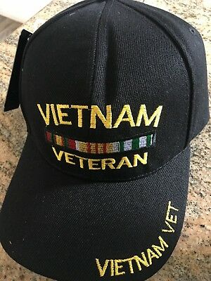 f22ee8d8e63 Black Vietnam War Veteran Army Military Vet US Baseball Ball Cap Hat Caps  Hats