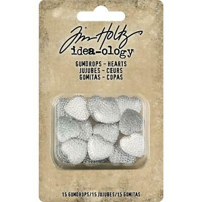 Tim Holtz Idea-Ology - Gumdrops Hearts - 15 Pieces - NEW!