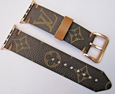 Louis Vuitton Upcycled Handmade Lv Monogram Strap/band For 42 Mm Apple Watch Xl