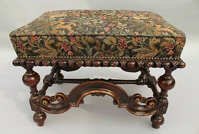 19th Century Jacobean Style Upholstered Stool