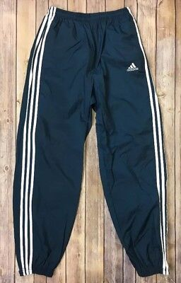 Adidas Unlined Nylon Athletic Track Gym Jogging Sweat Wind Pants - L - EUC