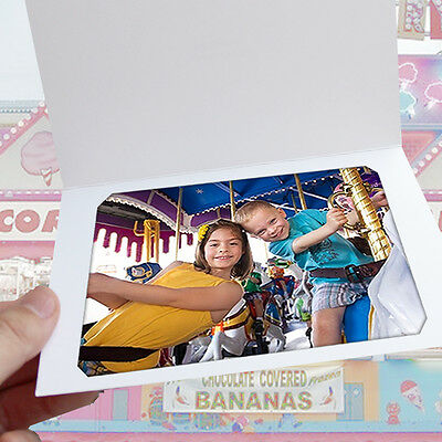 White Slit-Corner Cardboard Photo Folder - Holds a 4x6 or 5x7 Photo - Pack of 25