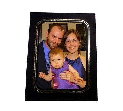 5x7/7x5 Black Embossed with GOLD FOIL trim Cardboard Photo Easels - Pack of 10