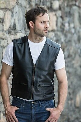 Apache Silk Lined Leather Vest