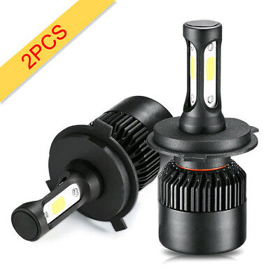 2Pc COB H4 9003 8000LM/72W LED Headlight Kit Hi/Lo Beam Light Bulbs 6500K