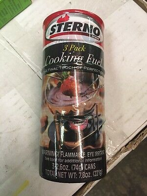 Sterno 3 Pack Cooking Fuel Each One Is 2.6 Ounces