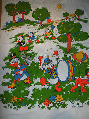 Disney Bettwäsche Donald Duck 70er Vintage Stoff Bedding Fabric 70s