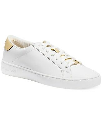 93616199f685 MICHAEL Michael Kors Irving Lace-Up Sneakers Size 11 Optic White Gold  Leather