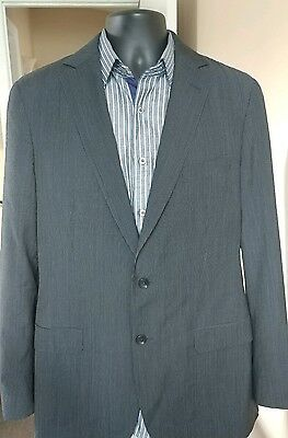 ZEGNA Wool Sportcoat 42 Regular Charcoal pinstriped Drop 8 Fit 2-Buttons $945