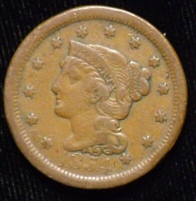 1854 United States Large Cent  VF