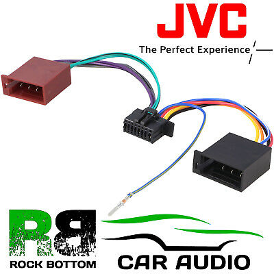 car radio adapter cable jack for jvc din iso 16 pin wire harness rh picclick co uk