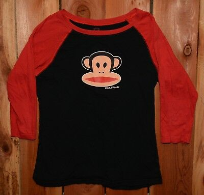 "Paul Frank "" Julius the Monkey "" 3/4 sleeve tee shirt - Woman's Size Small"