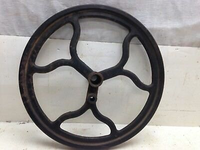 "Vintage Unique 11"" Large Farm Barn Pulley Wheel Cast Iron Steampunk Industrial"