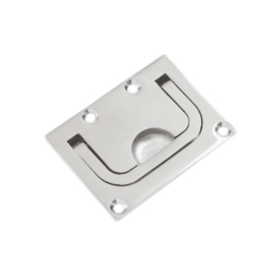 Stainless Steel Flush Mount Pull Ring Hatch Latch Handle Boat Caravan