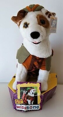 WISHBONE PBS TV JACK RUSSELL Terrier PLUSH Puppy DOG Stuffed Toy Robin Hood