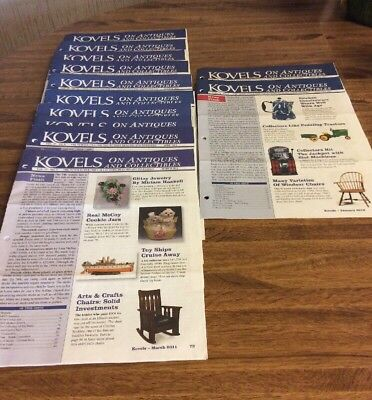 Kovels On Antiques and Collectibles Newsletters March-Dec. 2011 Jan. Feb. 2012