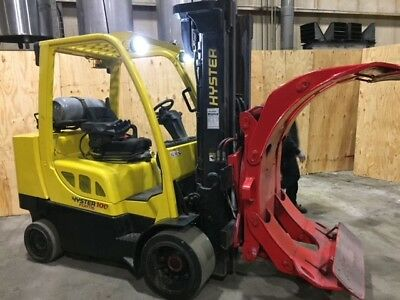 10,000 Pound Hyster Model S100Ftbcs Paper Roll Clamp Forklift Truck (2012)