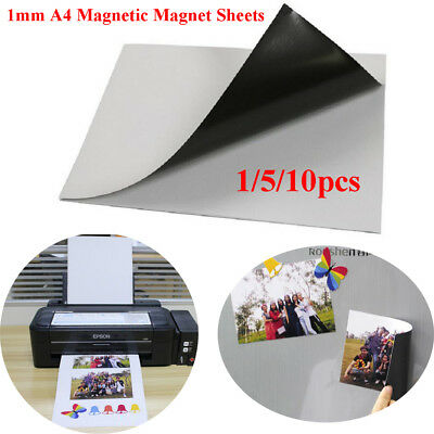 1~10x A4 0.3mm Magnetic Magnet Sheets Thickness Crafts Material EL