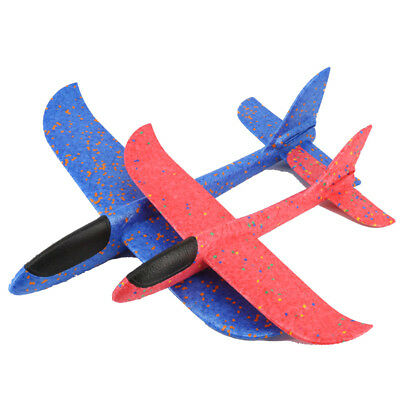 EPP Foam Hand Throw Airplane Outdoor Launch Glider Rotating Plane Kids Gift Toy