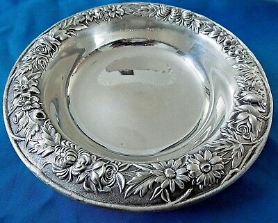 "Antique Solid Sterling Silver dish  bowl ,  6 1/4""   144 Grams S KIRK & SON"