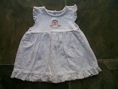 Baby Girl's Peter Rabbit White Sleeveless Cotton Summer Dress Size 000 VGUC