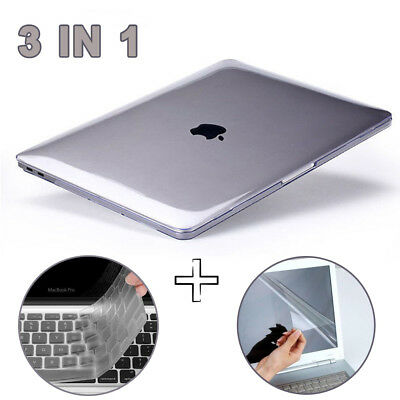 """Glossy Clear Hard Shell Case Keyboard Cover LCD For MacBook PRO 13/15"""" Touch Bar"""