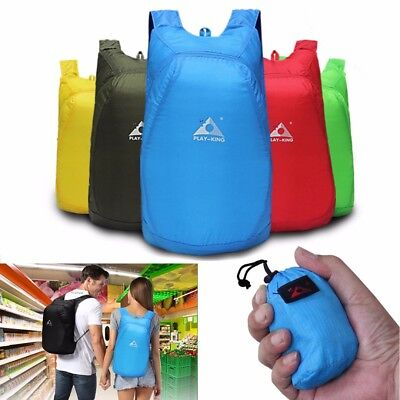Water Resistant Foldable Backpack Ultralight Packable Camping Daypack Travel Bag