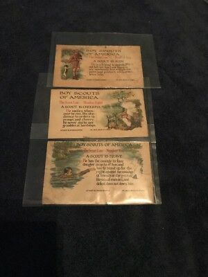 Vintage Boy Scouts Of Amaerica Post Cards Early Teens