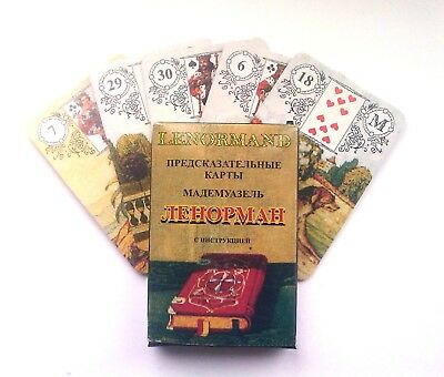 A deck of Tarot, Lenormand 36 cards