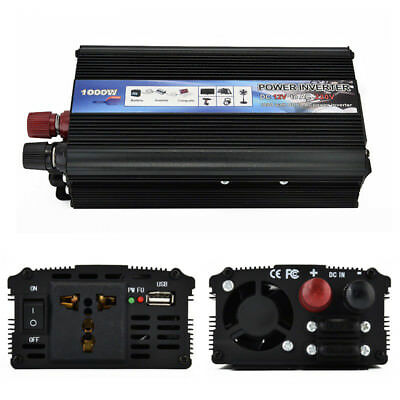 1000W Power Inverter DC 12V to AC 220V Modified Sine Wave Converter Charger