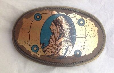 Native American Indian Chief Style Belt Buckle Vintage American Retro Classic