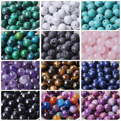 Bulk Wholesale Natural Stone Round Gemstone Loose Spacer Beads 4mm 6mm 8mm 10mm